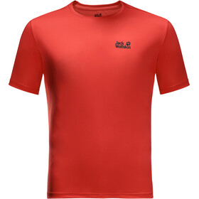 Jack Wolfskin Tech T-shirt Heren, lava red